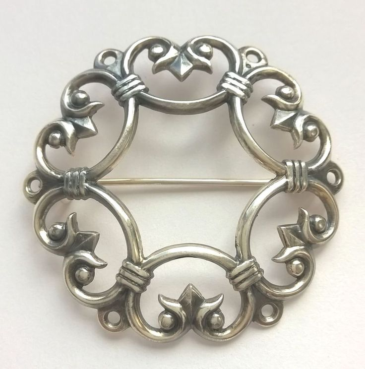 "KALEVALA KORU KK Finland - Beautiful Vintage Silver Brooch ""Suotniemi"" #KalevalaJewelry"