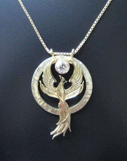 Phoenix Rising Pendant! I want this but in Silver! :)