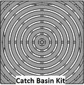 "12"" Catch Basin Kit w/ Cast Ductile Iron Decorative Bullseye Grate"