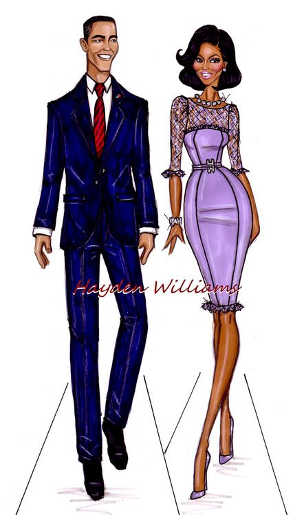 haydenwilliamsillustrations:    The Obama's by Hayden Williams