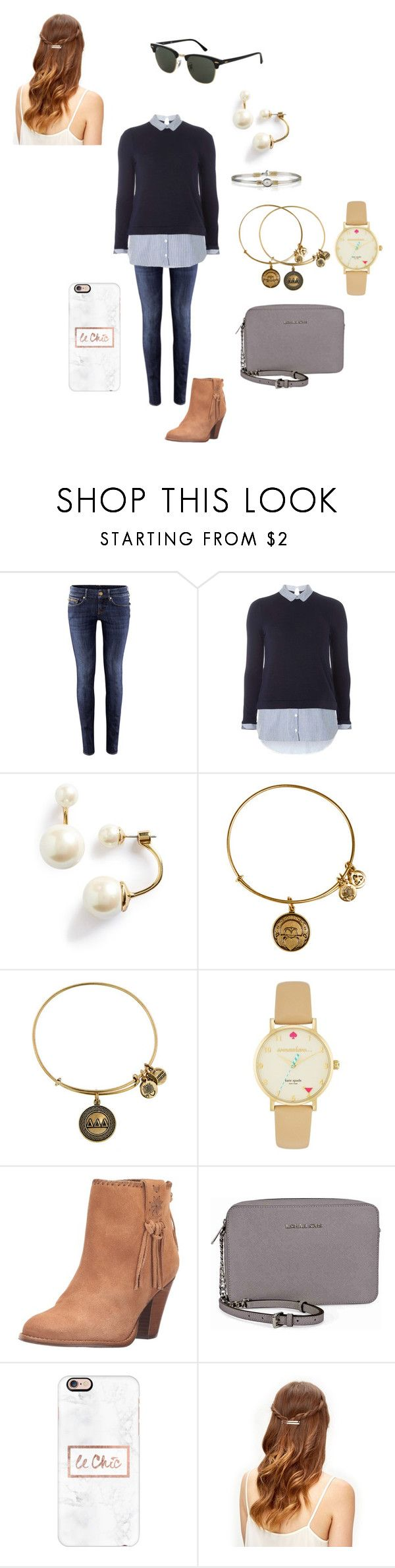 """""""Untitled #489"""" by rudy2414 ❤ liked on Polyvore featuring H&M, Dorothy Perkins, Kate Spade, Alex and Ani, Jack Rogers, Michael Kors, Casetify and Topshop"""