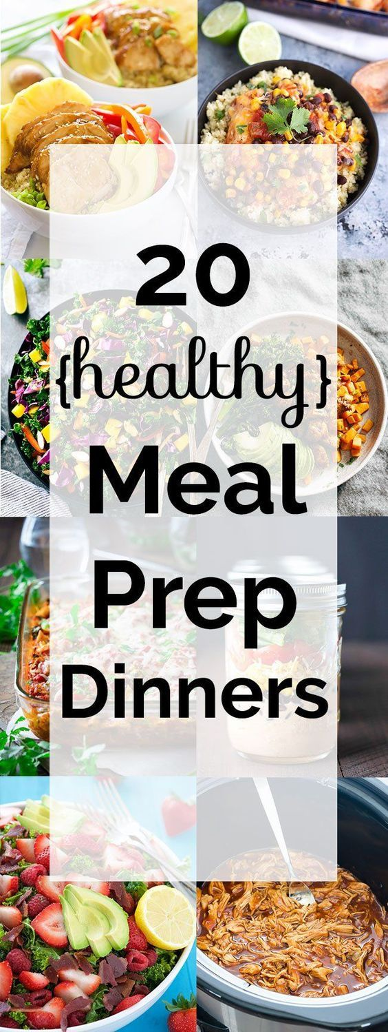 20 healthy meal prep dinners! All these meals are made for busy families on the…: