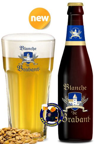 Our New Beer: Blanche de Brabant. This beer is brewed with the most noble ingredients amongst which wheat, typical for the best Belgian white beers. Very light yellow white coloured beer with almost no carbonation. Herby wheat coriander herby rather heavy aroma.. Yellow   Available online at http://store.belgianshop.com/white-beers/1398-blanche-de-brabant-5-13l.html