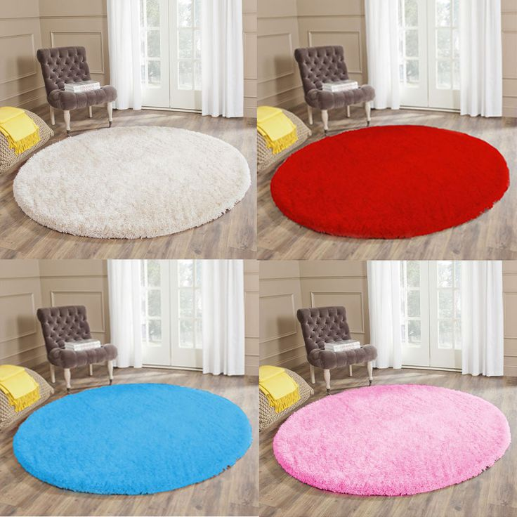 Modern Circle Rugs Thick Non-Slip Soft Pile Shaggy Best Round Rug Cheap Cost