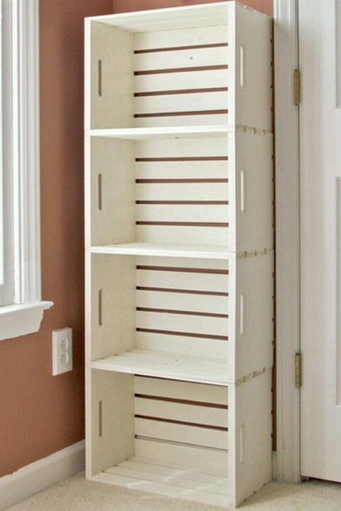 Homemade Crate book shelf