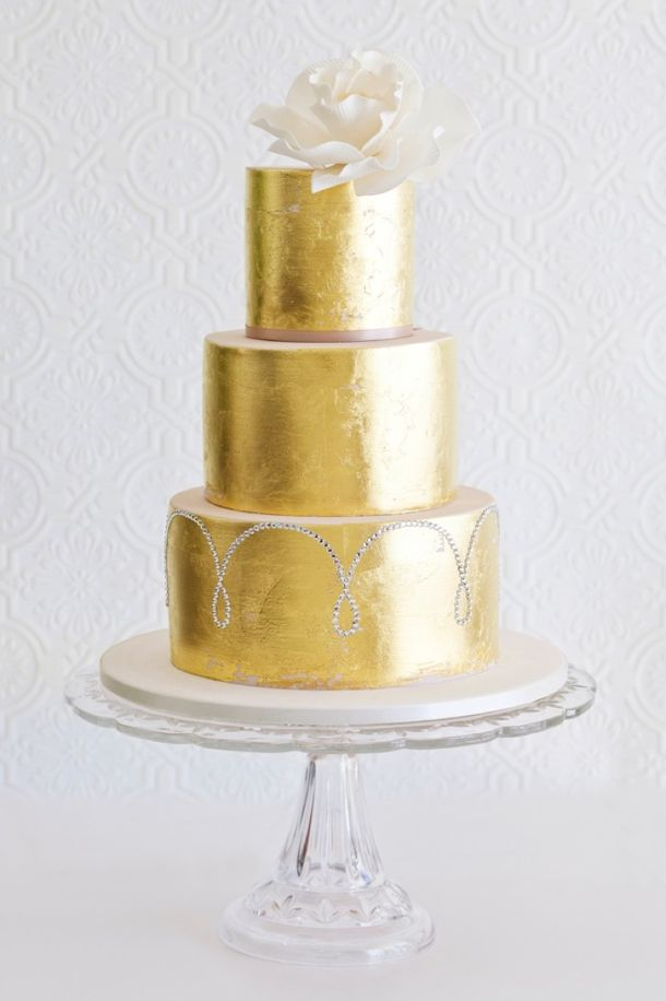 Sparkle Metallic Wedding Cakes