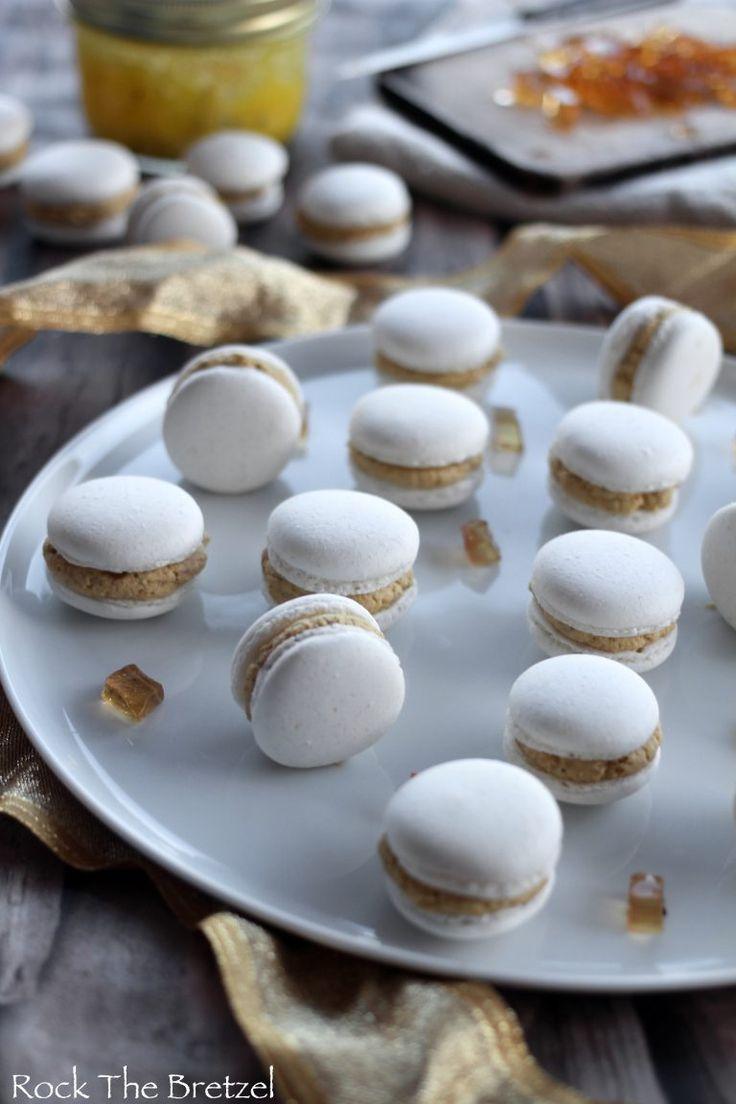 Macarons salés au foie gras et gelée de Gewurztraminer