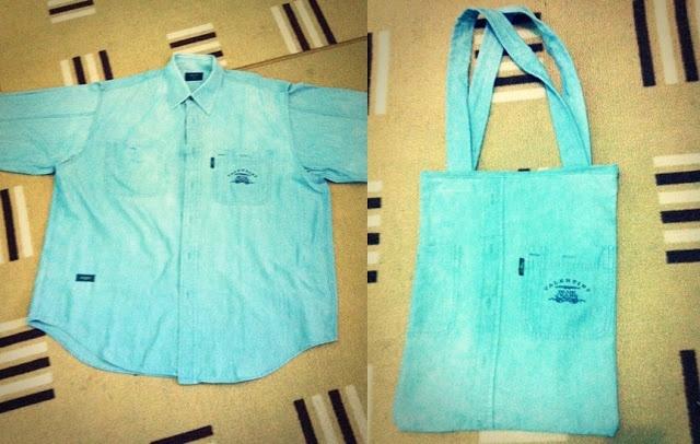 Denim Shirt to Tote Bag | Be A Useful