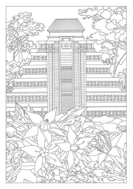 china landmarks coloring pages - photo#17