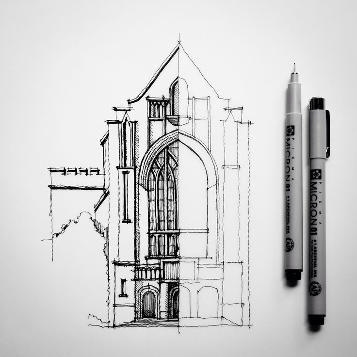 Half #sketch #drawing #architecture | by Dan Hogman