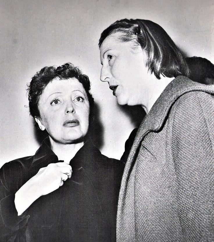 Edith con Marguerite Monnot 1957