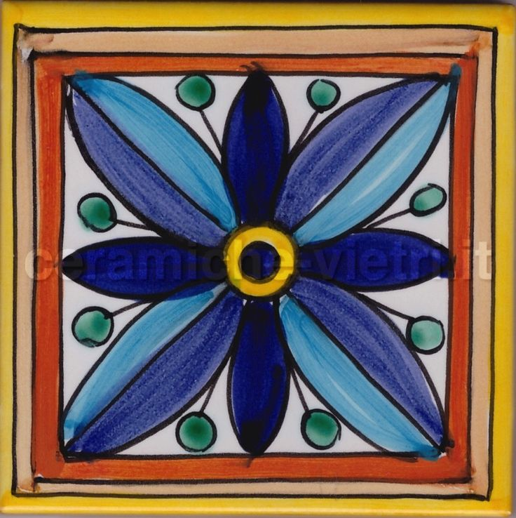 Ceramiche piastrelle 20x20 decorate a mano in - Piastrelle di vietri ...
