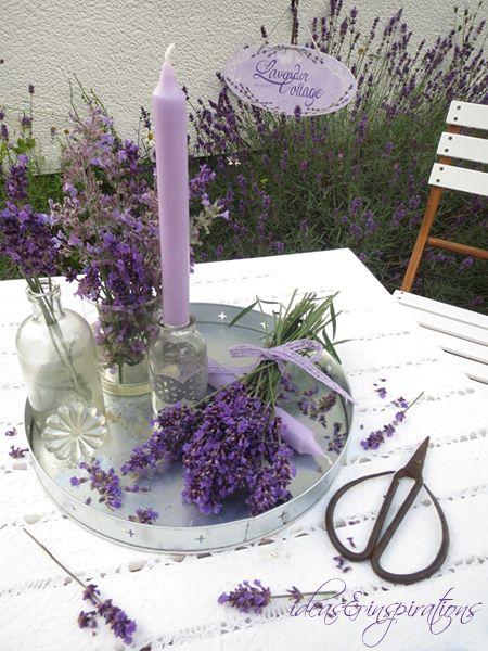 lavender lavendel tablett glas glass table decoration tisch dekoration violett lila vintage. Black Bedroom Furniture Sets. Home Design Ideas
