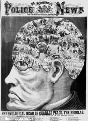 Phrenological Head of Charles Peace, The Illustrated Police News, 1879