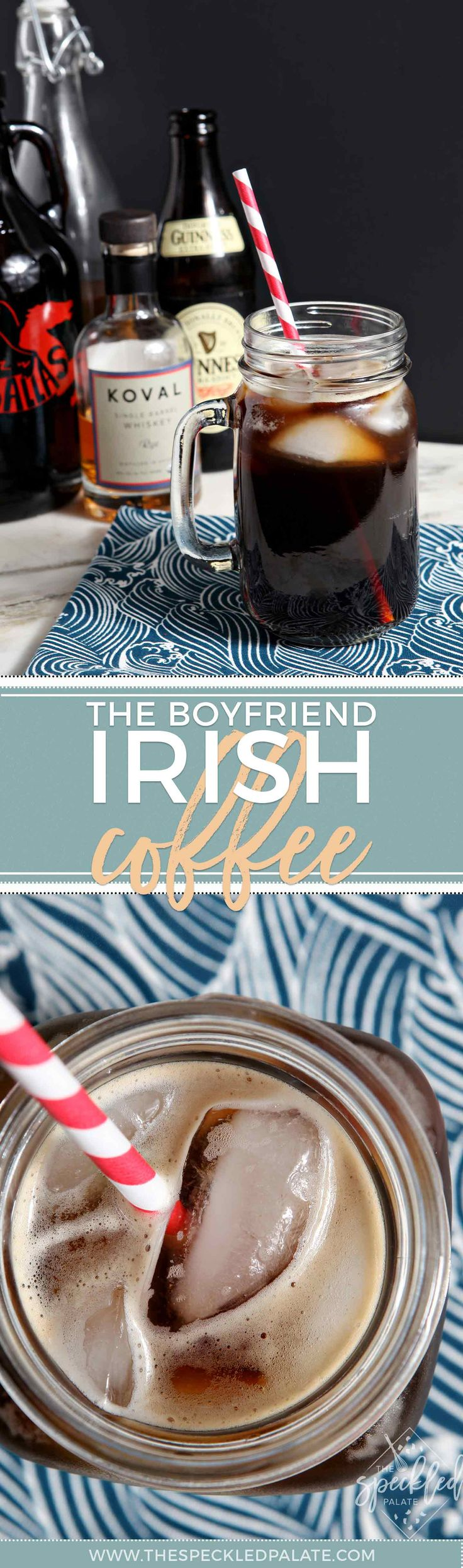 A take on traditional Irish coffee, the Boyfriend Irish Coffee is dark, heavy and masculine. | Irish Coffee Cocktail | Irish Coffee Recipe | Coffee Cocktail | National Coffee Day Cocktail | National Coffee Day Recipe | Cold Brew Cocktail | Irish Whiskey Cocktail | Guinness cocktail | St. Patrick's Day Drink | St. Patrick's Day Cocktail via @speckledpalate