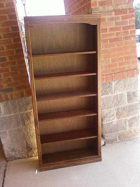 Oak bookshelf by newleafgalleries, via Flickr