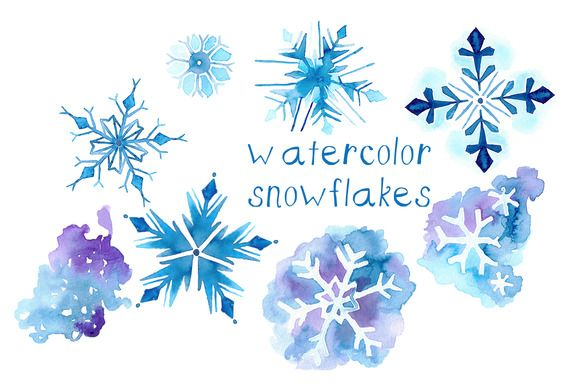 Check out Watercolor Snowflake Illustrations by Digital Press Creation on Creative Market