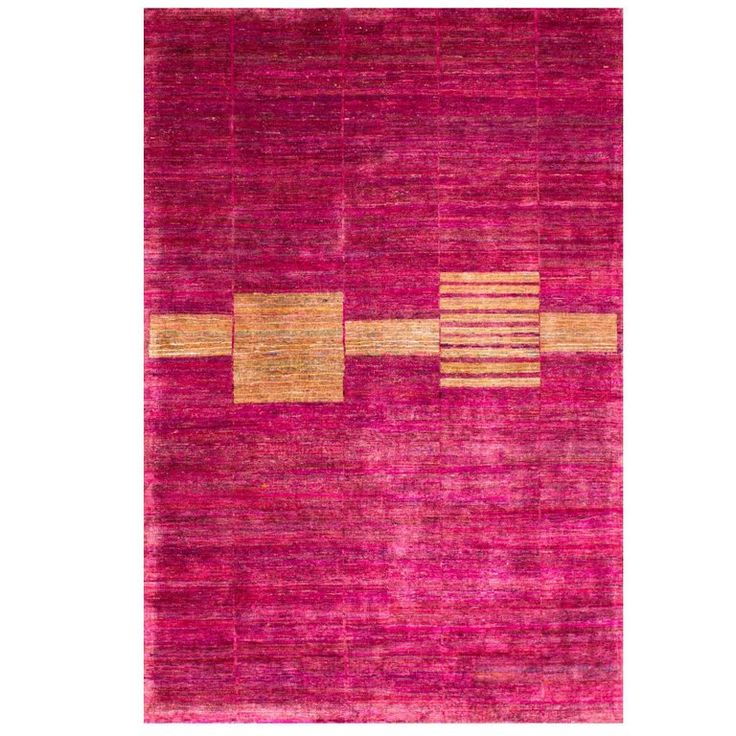 Cranberry Pink Fuchsia Mid Century Modern Hand Knotted Natural Silk Rug In Stock Purple Area Rugs Silk Rug Pink Rug