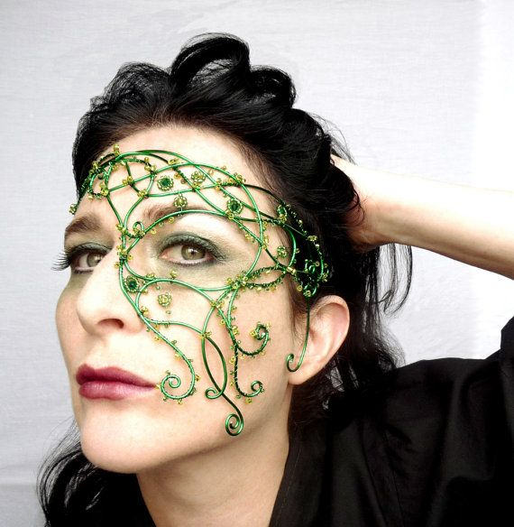 Hey, I found this really awesome Etsy listing at http://www.etsy.com/listing/119955096/green-vine-half-mask-handmade-womens