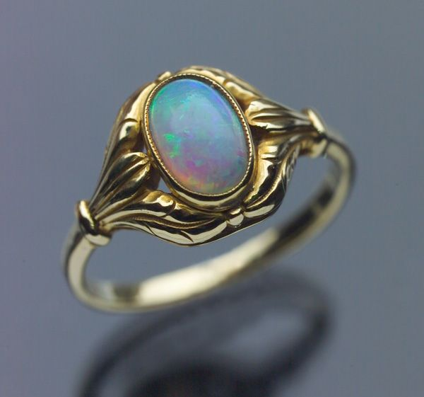 DATABASE antique opal and gold ring #OpalRings #OpalJewelry
