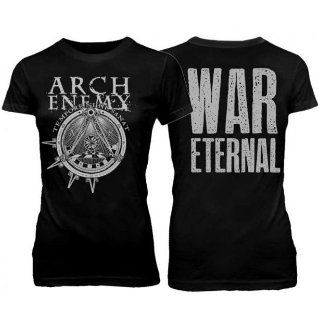 Official Arch Enemy ladies shirt featuring War Eternal symbol design   Available here: http://heavymetalmerchant.com/product/arch-enemy-war-eternal-symbol-ladies-shirt