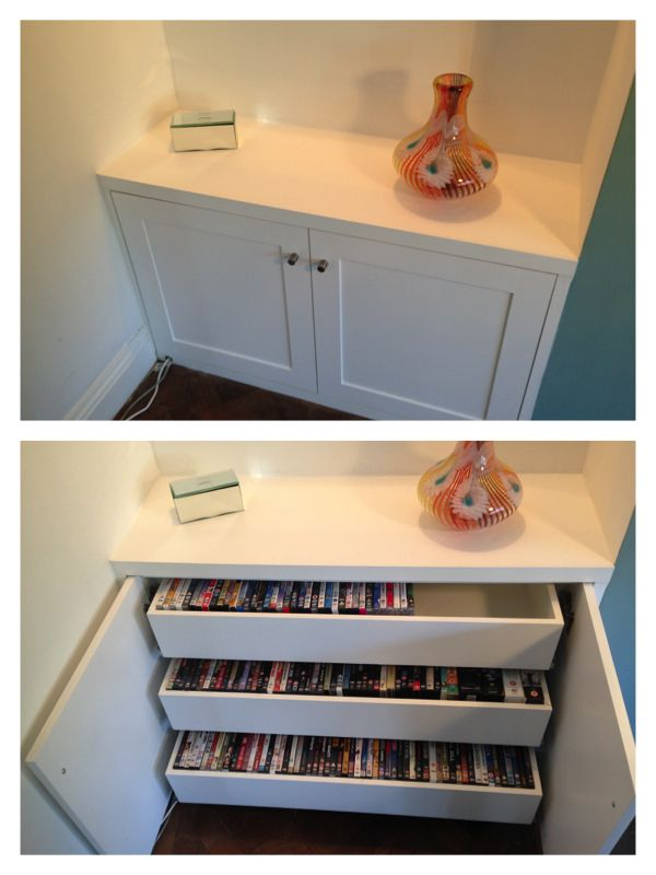 Alcove Cabinet with simple internal dvd drawers