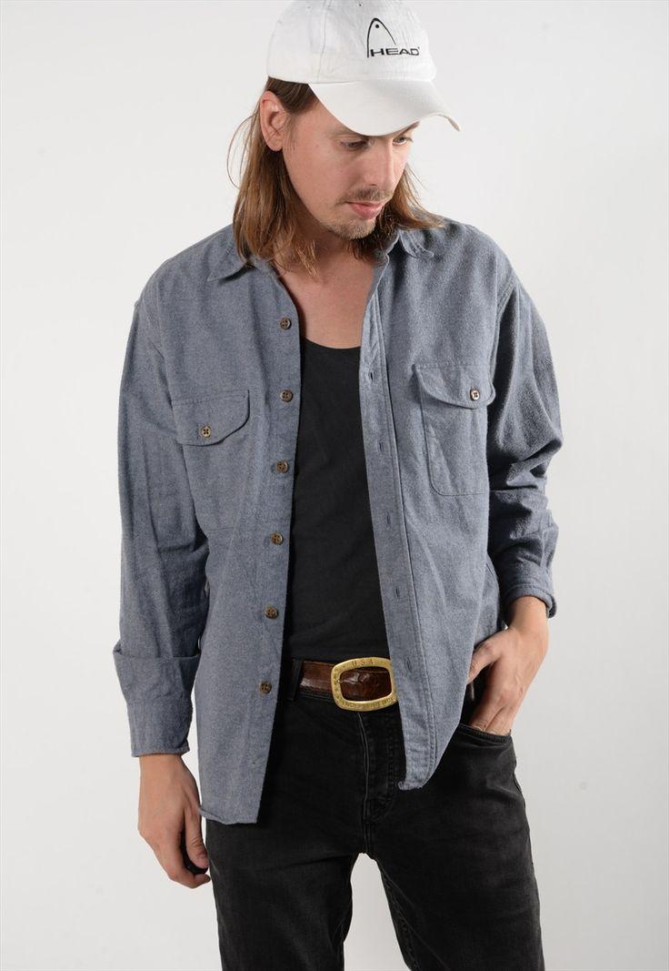 Pale Blue Flannel Skater Shirt. (5129)   Best Days Vintage   ASOS Marketplace