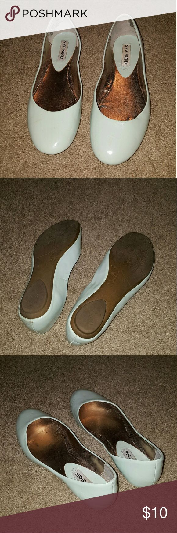 Steve Madden Flats size 8 light blue Steve Madden Flats size 8. used some signs of wear on the sole. Steve Madden Shoes Flats & Loafers