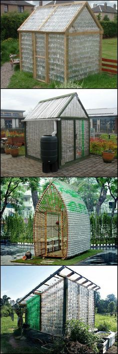 Building out of recycled materials is a great way to save money and be kind to the environment. Stop throwing out all those PET bottles! Turn them into a glasshouse instead! These many examples of greenhouses made from recycled plastic bottles show that the principle work http://theownerbuildernetwork.co/vrr1 We\'re starting to collect plastic bottles, how about you?
