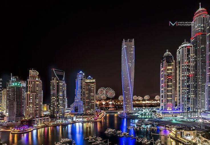 Dubai Marina New year Firework by Vinaya Mohan