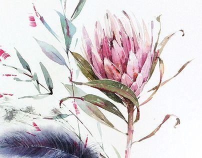 Hydrangea, tulip, protea, orchid