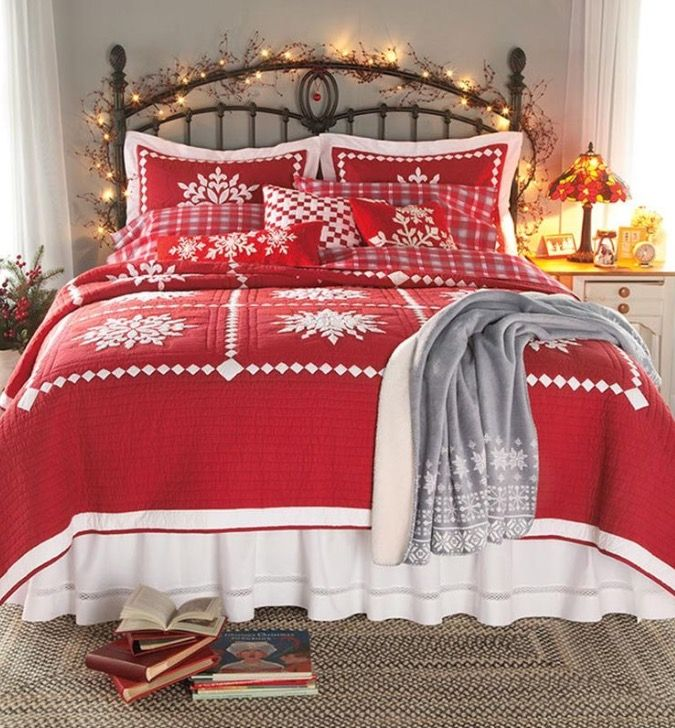 78 best Christmas Bedrooms images on Pinterest Christmas ideas