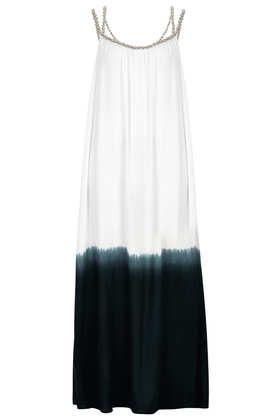 White Dip Dye Maxi Cover Up
