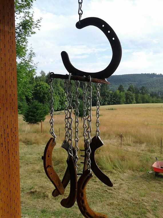 Rustic Wind Chime by WesternIronWorks on Etsy