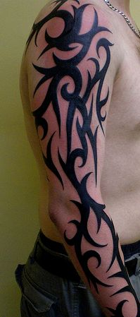 tribal arm sleeve http://www.designpromotivate.com/2013/08/free-tribal-tattoo-designs.html