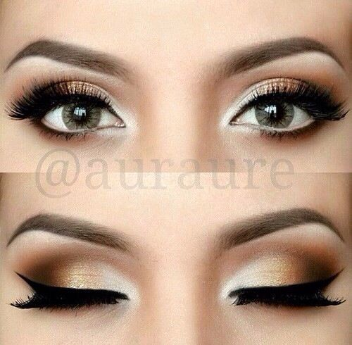 Gold Smokey Eye Bridal Makeup : 17+ best ideas about Gold Eye Makeup on Pinterest ...