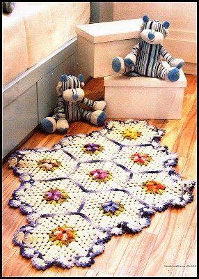 Tecendo Artes em Crochet: Tapetes Florais com Receitas!