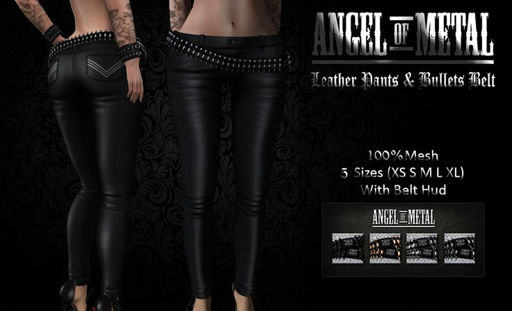 .:Angel of Metal:. Leather Pants & Bullets Belt [Black] | Flickr - Photo Sharing!