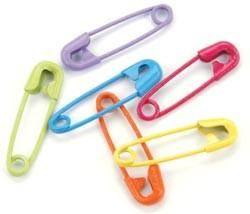 Mini Painted Safety Pins - Tropical Assortment ~ $2.39 at scrapbooking-warehouse.com