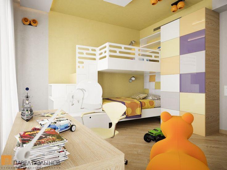 Детская комната с двухъярусной кроватью белого цвета  / kids room / kids room idea / kids room decor / kids room design / #design #interior #homedecor #interiordesign