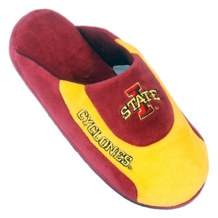 Comfy Feet NCAA Low Pro Stripe Slippers - Iowa State Cyclones - ISU07LG