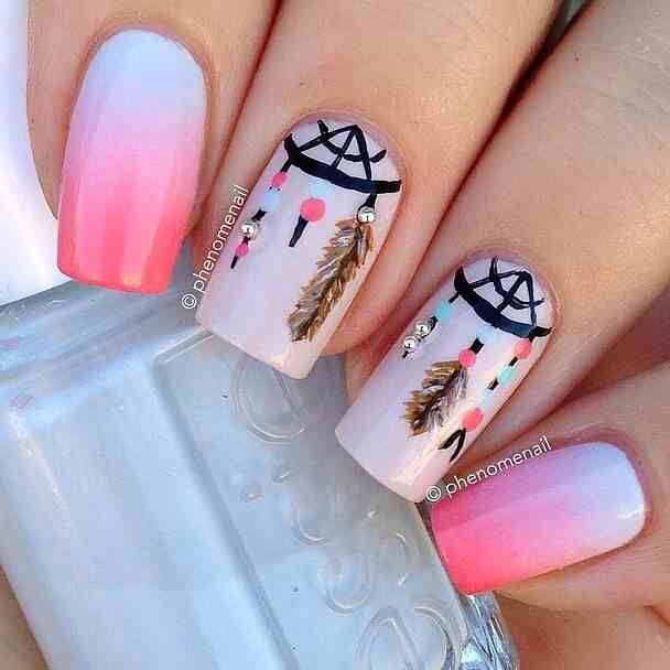 Amazing boho nail art look!