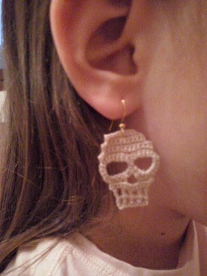 orecchini teschio