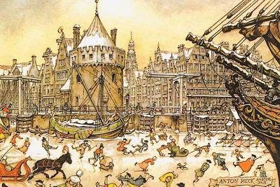 Anton Pieck plaatjes en animaties van Animatieplaatjes.nl