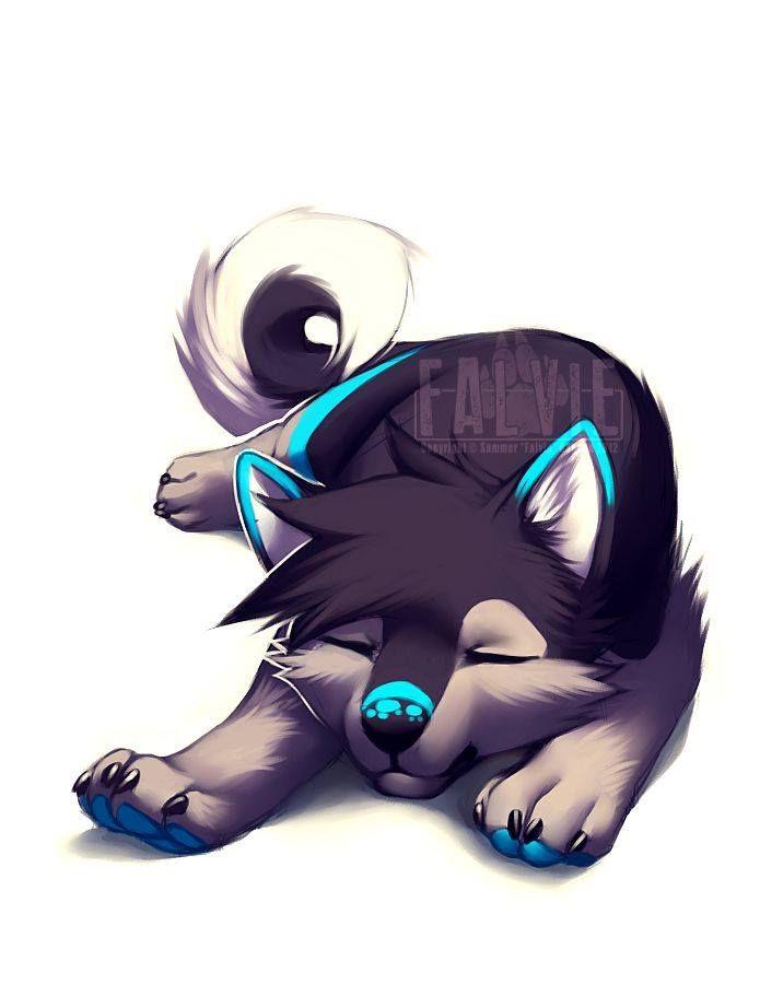 Рисунки милых волчат