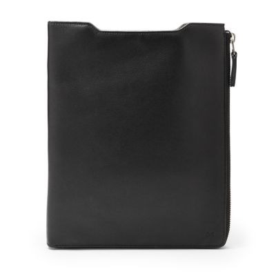 """Ridiculously Bossy Skagen iPad Case.  Blurb: Nadja iPad case features a soft, leather-lined sleeve on the exterior to safely hold your 10"""" iPad and a large L-zip interior with space for a note pad and three cards. Nadja iPad case was created with a unisex design that appeals to both men and women."""