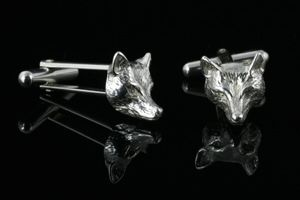 Fox head cufflinks - County Equestrian Jewellers