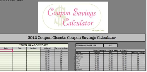 Coupon tracking excel spreadsheet