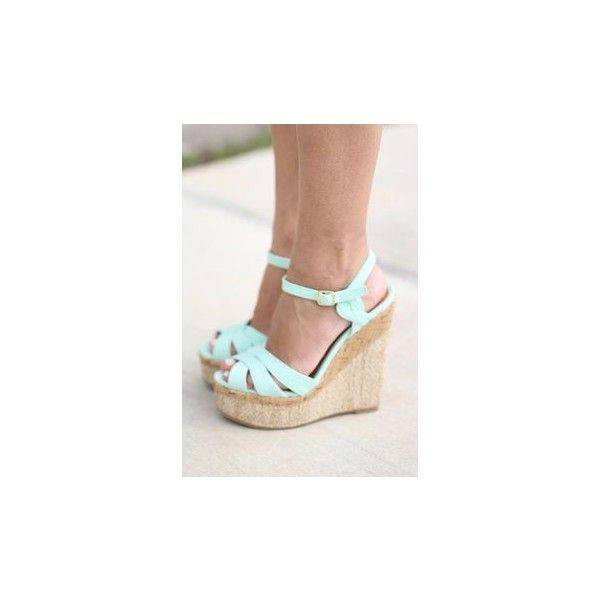 Mint Heels via Polyvore featuring shoes, pumps, mint green pumps, mint green shoes, mint pumps and mint shoes
