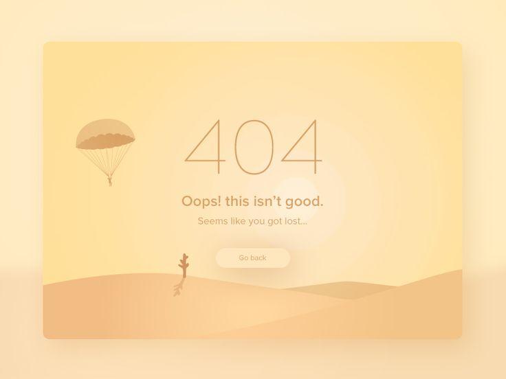 404 Oops!, you got lost | #dailyui 04